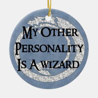 Wizard Personality Round Ceramic Decoration
