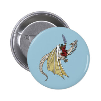 Wizard Riding White Dragon Button