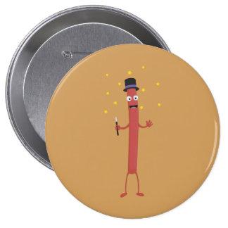 Wizard Sausage Z3hqx 10 Cm Round Badge