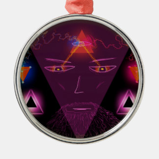 Wizard Silver-Colored Round Decoration