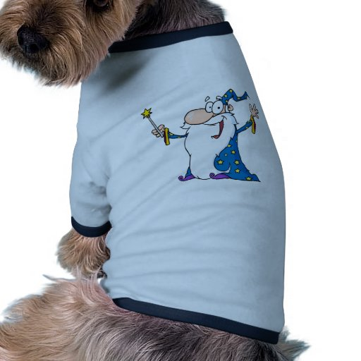 Wizard Waving And Cape Holding A Magic Wand Pet Tee