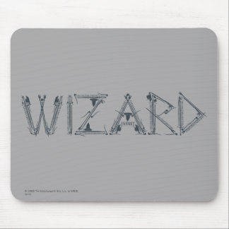 Wizard Weapon Collage Mouse Mat