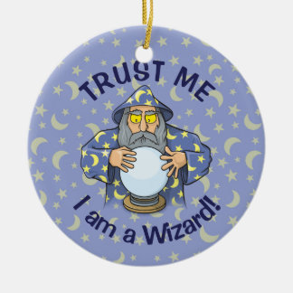 Wizard with Ball Christmas Ornament
