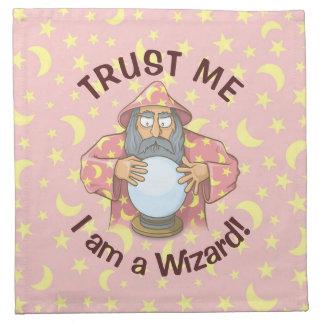 Wizard with Ball Napkin