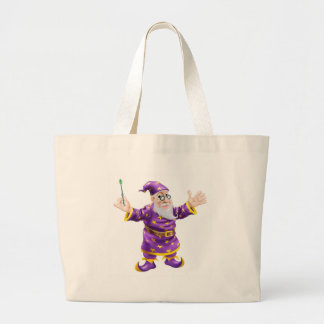 Wizard with Wand Tote Bag