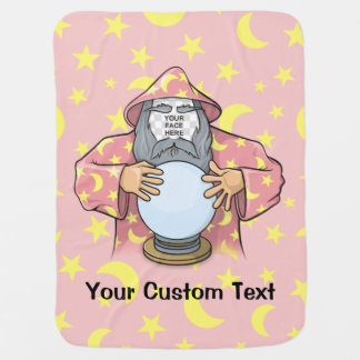 Wizard with your face baby blanket