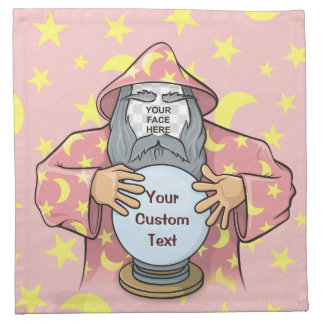 Wizard with your face napkin