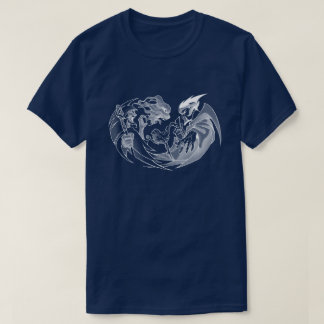 Wizards' Duel (Dark) Fantasy Art Gamer Graphic T-Shirt