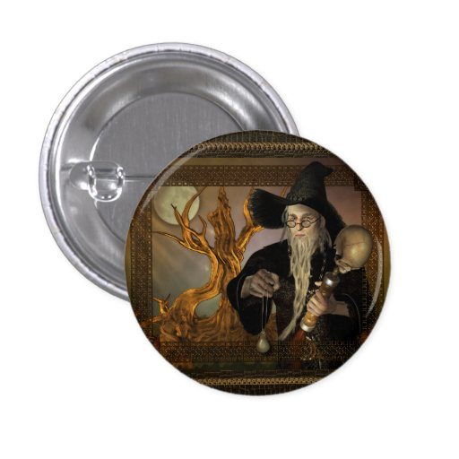 Wizards Magic Fantasy Illustration Round Buttons