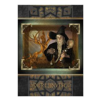 Wizards Magic Large Invitation