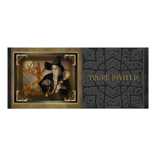 Wizards Magic Long Invitation