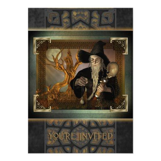 Wizards Magic Medium Invitation