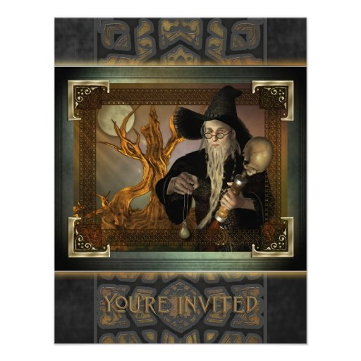 Wizards Magic Small Invitation
