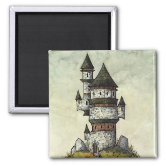 Wizard's Tower Square Magnet from Unreal Estate