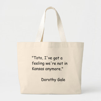 Wizzard of Oz Movie Quote Canvas Bag