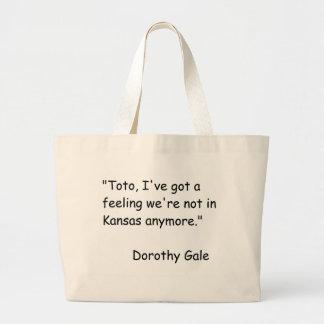 Wizzard of Oz Movie Quote Canvas Bag
