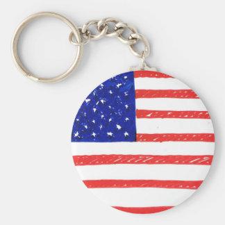 WJ USA flag Keychains