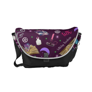WK #ModernWitchLife Purple Print Day Bag Messenger Bags