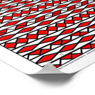 WKJ American Indian Theme Design P1 D1 Red Print