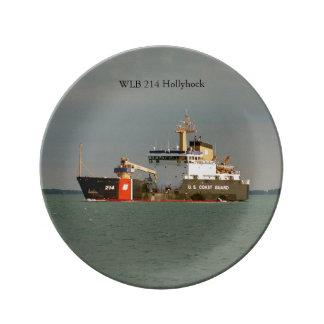 WLB 214 Hollyhock decorative plate