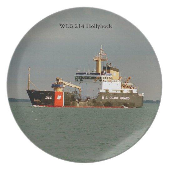 WLB 214 Hollyhock plate