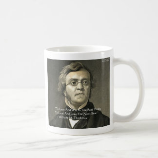 Wm Thackeray Love & Win Quote Gifts Cards Tees Coffee Mugs