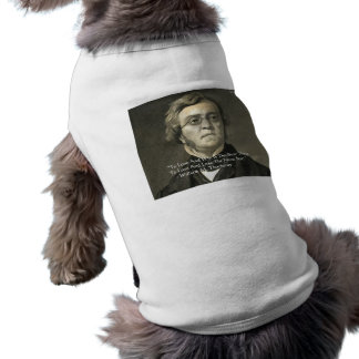 Wm Thackeray Love & Win Quote Gifts Cards Tees Sleeveless Dog Shirt