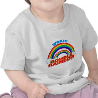 Woah Double Rainbow Tee Shirts
