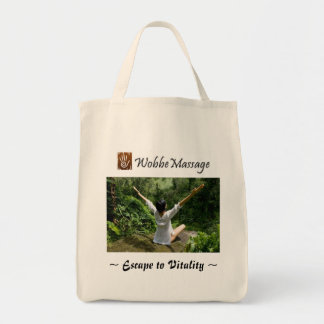 WobbeMassage Organic Grocery Tote Grocery Tote Bag