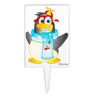 Wobble Penguin Cartoon Cake Topper