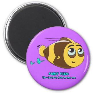 Wobblefin Fart Fish Magnet