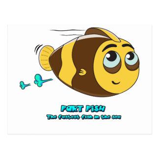 Wobblefin Fart Fish Postcard