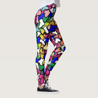 Wobbly Vibrant Tiles Leggings