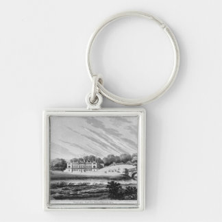 Woburn Abbey, Bedfordshire Silver-Colored Square Key Ring