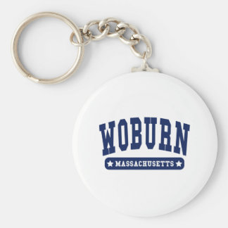Woburn Massachusetts College Style tee shirts Basic Round Button Key Ring
