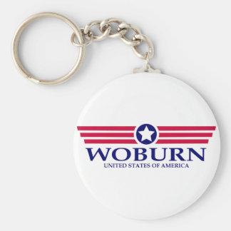 Woburn Pride Basic Round Button Key Ring
