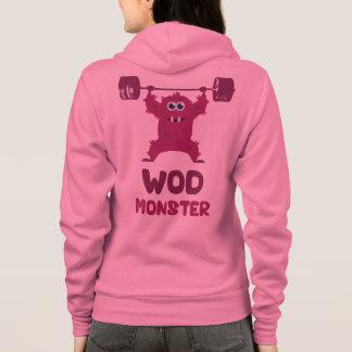 WOD Monster (Cute Barbell Snatch Monster) Hoodie