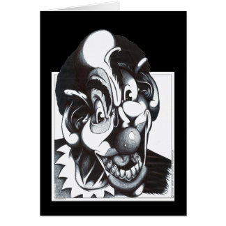 Woger the Clown Greeting Card