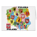 Wojewodztwa Polski_mapa Greeting Card