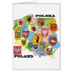Wojewodztwa Polski_mapa Greeting Cards