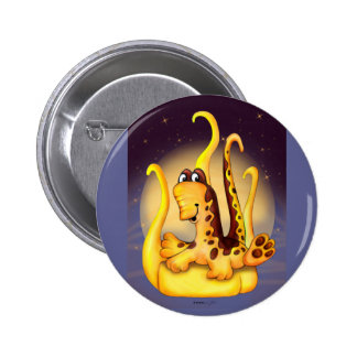 WOK ALIEN MONSTER CARTOON  Button 2¼ Inch