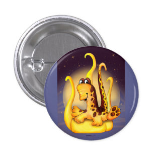 WOK ALIEN MONSTER CARTOON  Button small