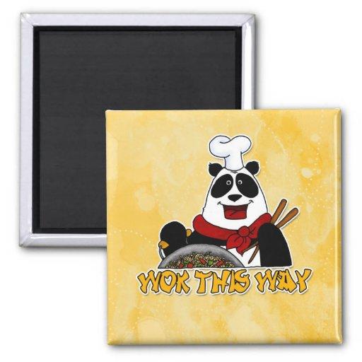 wok this way refrigerator magnet