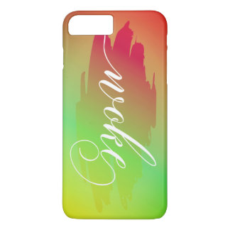 Woke modern watercolor slang words iPhone case