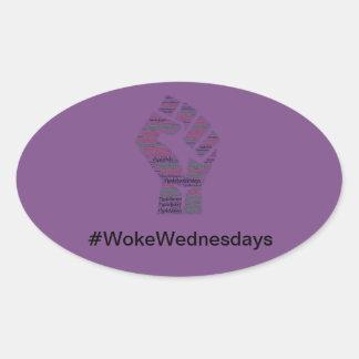 #WokeWednesdays Oval Sticker
