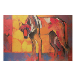 Wolf 1996 wood wall decor