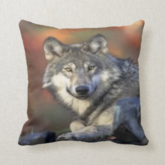 wolf 1 throw pillows
