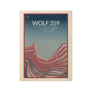 Wolf 359 Art Deco Space Posters