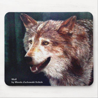 Wolf, an oil painting by Wanda Zuchowski-Schick Mouse Pad