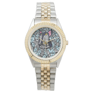 wolf and diamonds watch